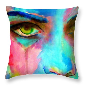Evocative Gaze Throw Pillow