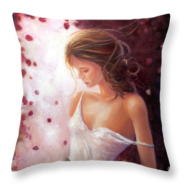 Evocative Scent Of A Summer Rose Throw Pillow