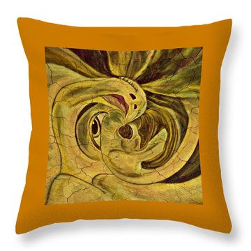 Evolution -  From Birth To Death Throw Pillow