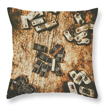 Evolution In Early Gaming Throw Pillow