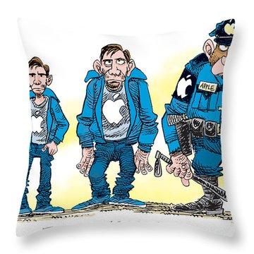 Evolution Of Apple Throw Pillow