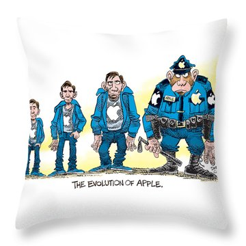 Evolution Of Apple Throw Pillow