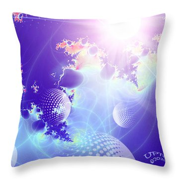 Evolving Universe Throw Pillow by Ute Posegga-Rudel