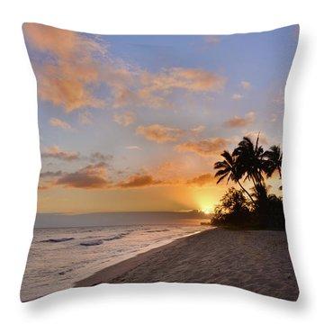 Ewa Beach Sunset 2 - Oahu Hawaii Throw Pillow