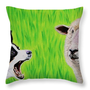 Ewe Talk'in To Me? Throw Pillow
