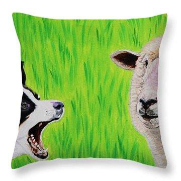 Ewe Talk'in To Me? Throw Pillow