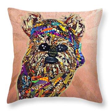 Ewok Star Wars Afrofuturist Collection Throw Pillow