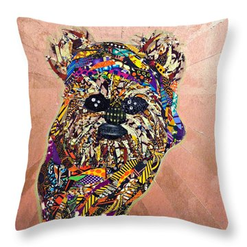 Ewok Star Wars Afrofuturist Collection Throw Pillow
