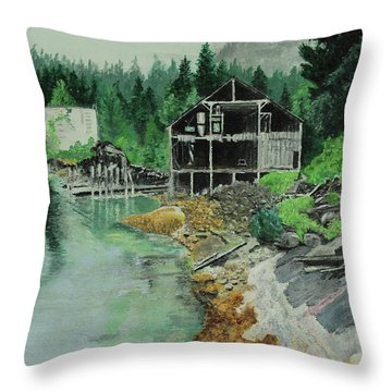 Ex-cannery Throw Pillow