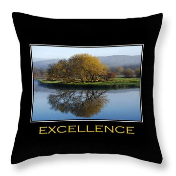 Excellence Inspirational Motivational Poster Art Throw Pillow by Christina Rollo