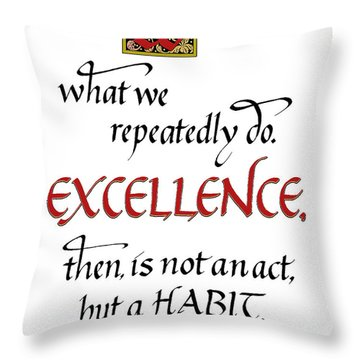 Excellence Throw Pillow