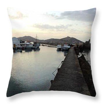 Excellent View Naoussa Paros Greece Throw Pillow