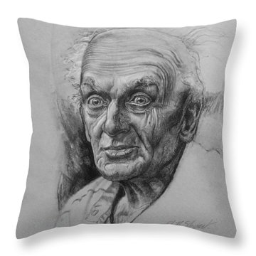 Excited Man Throw Pillow by John Norman Stewart