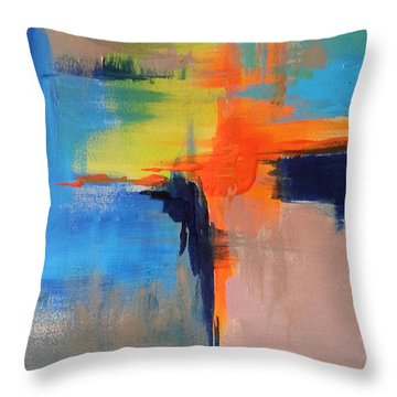 Excitement Throw Pillow by Becky Chappell