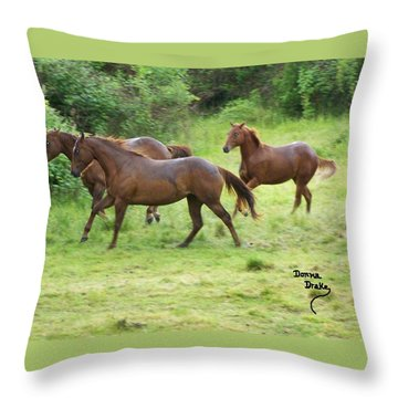 Excitement Before The Storm Throw Pillow