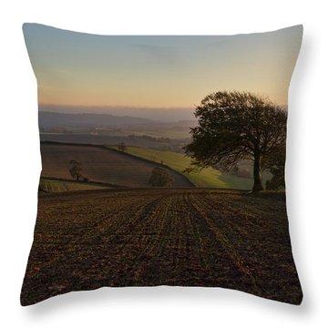 Exe Valley From Bidwell Cross Throw Pillow