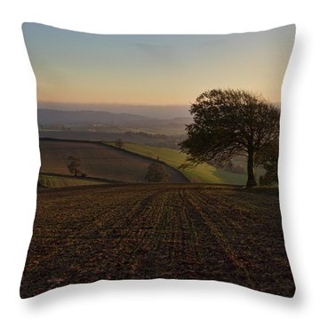 Exe Valley From Bidwell Cross Throw Pillow