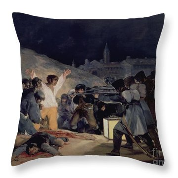 Execution Of The Defenders Of Madrid Throw Pillow by Goya
