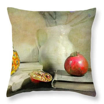 The Bookeeper Throw Pillow