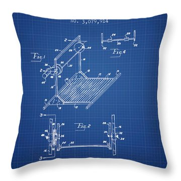 Exercise Machine Patent From 1961 - Blueprint Throw Pillow