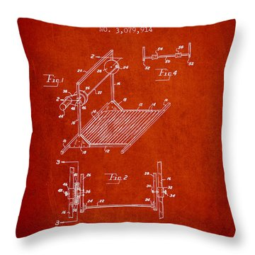 Exercise Machine Patent From 1961 - Red Throw Pillow