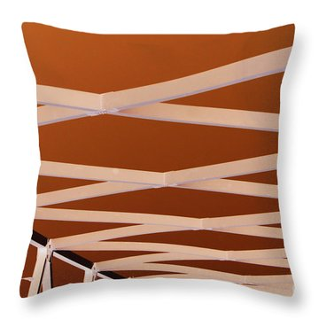 Exes- Red Throw Pillow