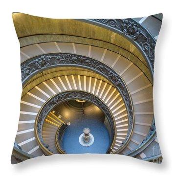 Exeunt Sistine Chapel Throw Pillow
