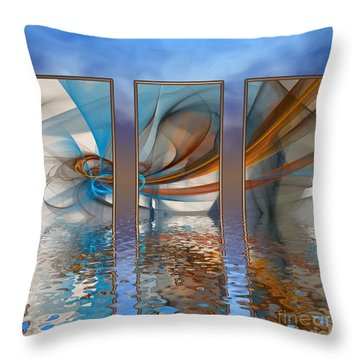 Exhibition Under The Sky Throw Pillow