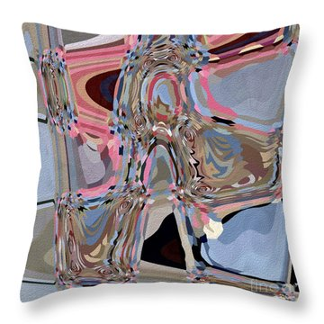 Throw Pillow featuring the digital art Exit by Eleni Mac Synodinos