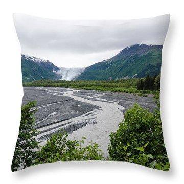 Exit Glacier Throw Pillow