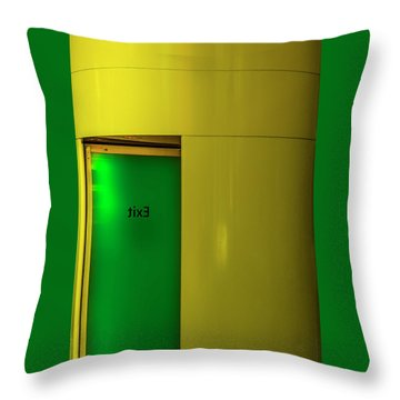 Exit Throw Pillow by Paul Wear