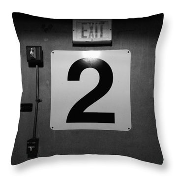 Exit Two Throw Pillow