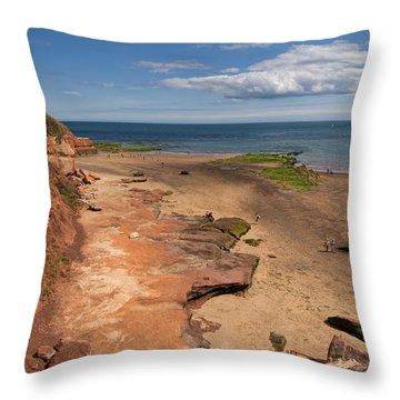 Exmouth Near Orcombe Point Throw Pillow