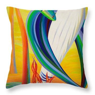 Exodus Of Jesus Throw Pillow