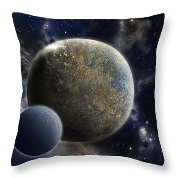 Exosolar Worlds Throw Pillow