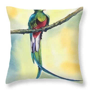 Exotic Bird Throw Pillow