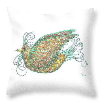 Exotic Bird IIi Throw Pillow