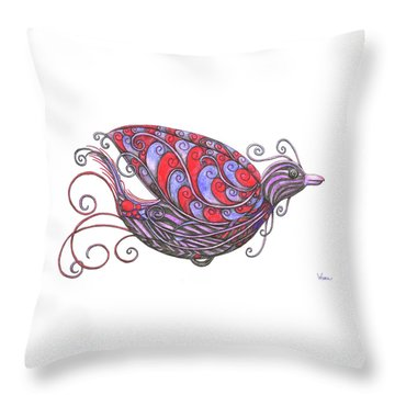 Exotic Bird V Throw Pillow