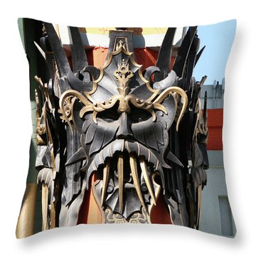 Exotic Chinese Mask Throw Pillow