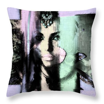 Throw Pillow featuring the digital art Exotic Colors by John Rizzuto