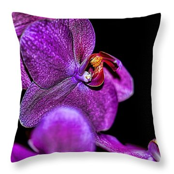 Throw Pillow featuring the photograph Exotic by Diana Mary Sharpton
