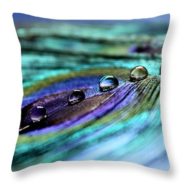 Exotic Drops Of Life Throw Pillow