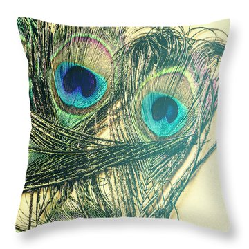 Exotic Eye Of The Peacock Throw Pillow