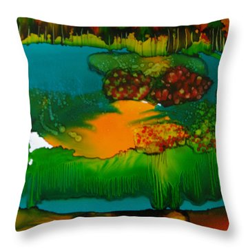Exotic Landscape # 47 Throw Pillow