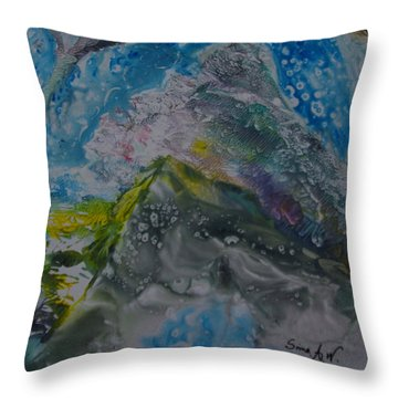 Exotic Landscape # 76 Throw Pillow