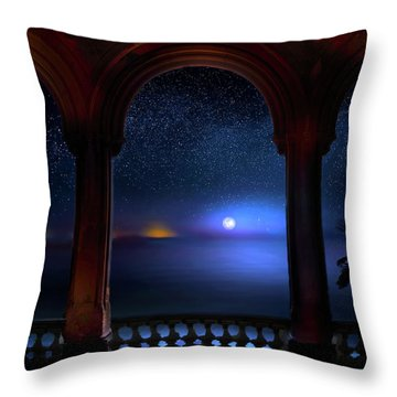 Throw Pillow featuring the photograph Exotic Night by Mark Andrew Thomas