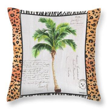 Exotic Palms 1 Throw Pillow
