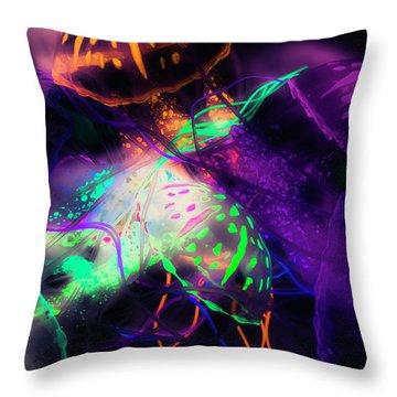 Exotic Rainbows Throw Pillow