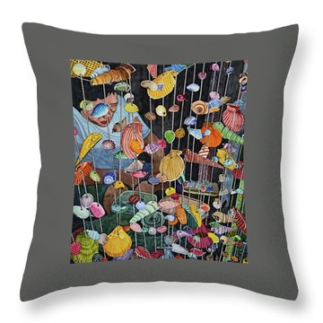 Exotic Seashells For Sale Throw Pillow