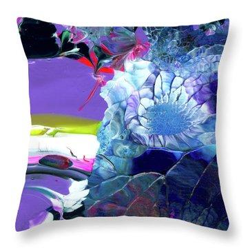 Exotic White Rose Island Throw Pillow